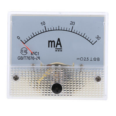 Milliampere Meter DC 0-30mA Analog Amp Meter Ammeter Current Panel New 30mA