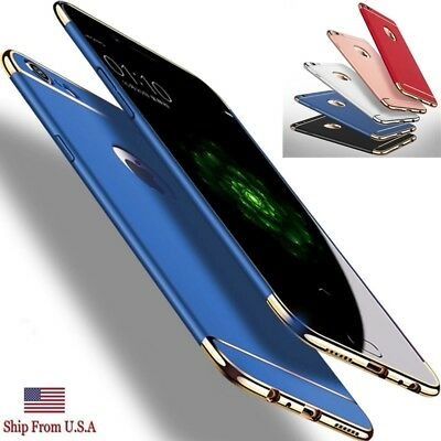 Luxury Ultra Thin Electroplate Hybrid Slim Hard Case Cover for iPhone X 8 7 6S 6
