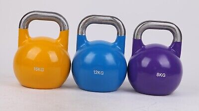 3PCS KettleBell Set Weight GYM Training Fitness Workout Exercise 8KG 12KG 16KG