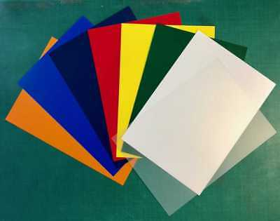 A4 Coloured Polypropylene Plastic Sheet 0.5mm Model Making, Arts & Crafts