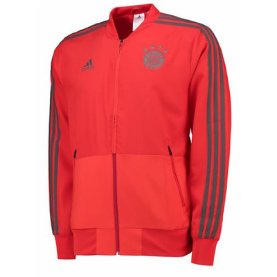 adidas Bayern Munich Training Presentation Jacket 2018/19 - Red - Mens