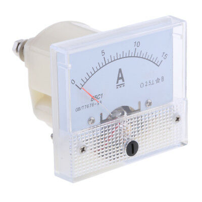 15A 85C1 DC 0-15A Analog Amp Meter Ammeter Current Panel Directly Connect