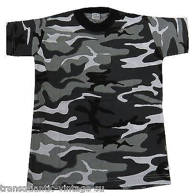 54350be97 Kids Camo T-Shirt Childrens Army Clothing Combat Uniform Cadet Camouflage  Tee