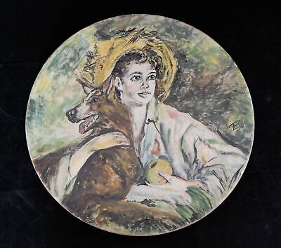 Mary Haley Bell Painting on Ceramic of Juliet Mills