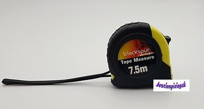 7.5 Meter Tape Measure Heavy Duty With Safety Lock And Carry Hook