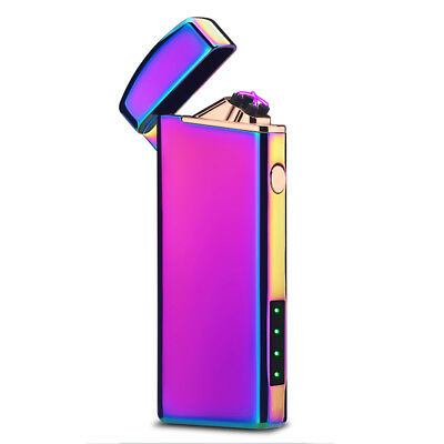 Electric Double ARC Pulse Plasma Lighter Flameless Metal Cigarette USB  Colorful