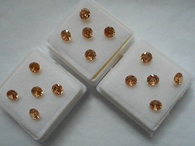 champagne cubic zirconia stones 4.5mm round cut 5 stones for £1.10p