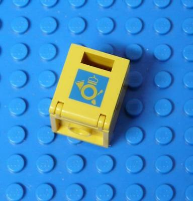 LEGO Container, Box 2 x 2 x 2 Door with Slot and Mail Horn Pattern Yellow x1PC