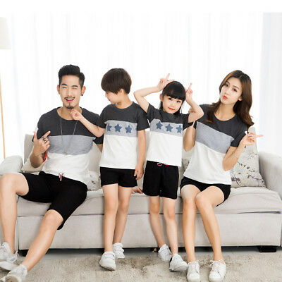 618e1fe028 FAMILY MATCHING CLOTHES Couple T-Shirt Short Sleeve Mom Dad Baby Kids  T-Shirts