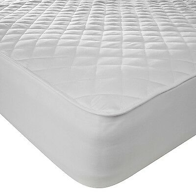 Extra Deep Quilted Polycotton Mattress Cover/Protector - 33cm Deep