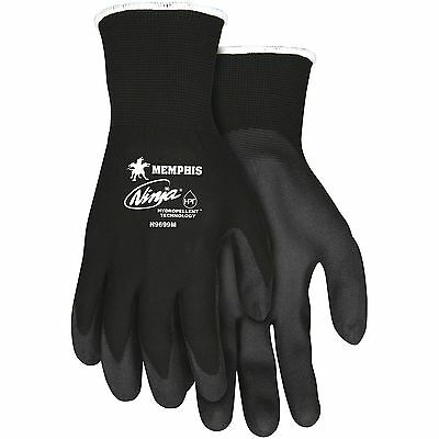 MCR Safety Ninja Hydropellent Technology Gloves Medium Black CRWN9699M