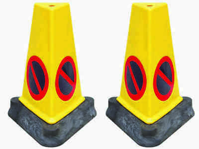 No Parking Cones/No Waiting Cones - Twin Pack Of Fully UK Road Legal Cones