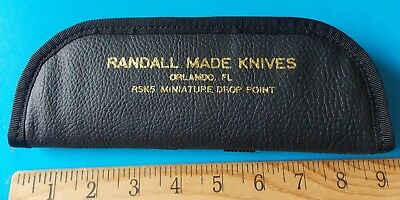 Randall Made Knives Rsk5 Miniature Drop Point Knife Pouch! Stidham Estate