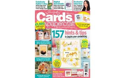 Simply Cards & Papercraft Magazine Issue 177 Free Coffee Break Die & Stamp Set