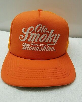 Ole Smoky Tennessee Moonshine Snapback Mesh Trucker Cap Hunter Safety  Orange