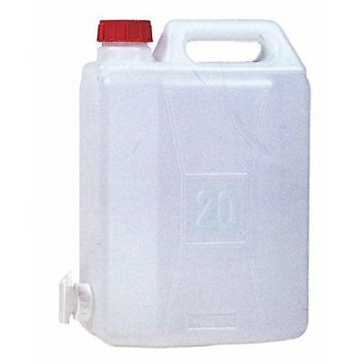 Highlander 20 Litre Water Carrier Jerry Can Container Grade Plastic With Tap