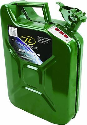 Highlander Steel Jerry Can 10 Litre Carrier Equipment Strong Durable
