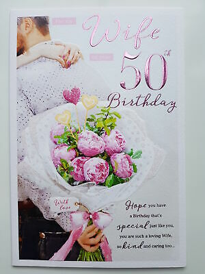 For My Wonderful Wife On Your 50th Birthday Card 289 Picclick Uk