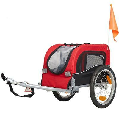 KARMAS PRODUCT Pet Bike Carrier Dog Cat Bicycle Trailer Stroller - Red