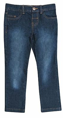 Boy's Ex Denimco Blue Wash Dark Denim Jeans Slim Fit Rivet Trousers Bottom