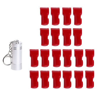 20 Pcs Red Secure Slatwall Hook Lock Anti Sweep & 1 Pc Key