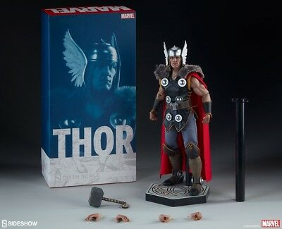 Sideshow Thor With Mjolnir 1:6 Scale Figure New Mib