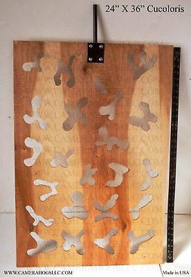 "Cucoloris LARGE 24""x36"" Wood Cucoloris Cookie Pattern Shadow for filmmaking CINE"