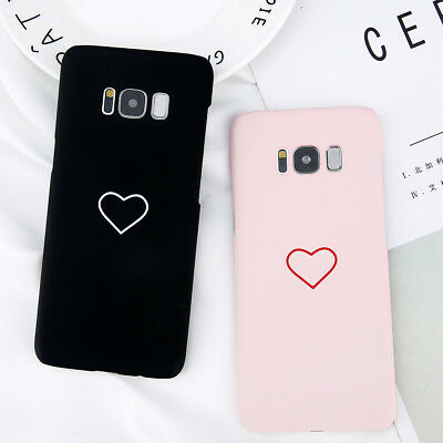 Slim Phone Case Cover Heart Pattern Shockproof For Samsung Galaxy S7/S8/S9 Plus