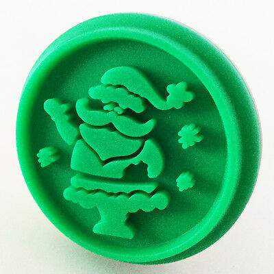 Santa Cookie Stamp Silicone Wood Baking Christmas Holiday Fondant Food Stamp