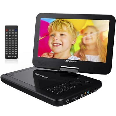 "DBPOWER 10.5"" Portable DVD Player with Rechargeable Battery, Swivel Screen,..."