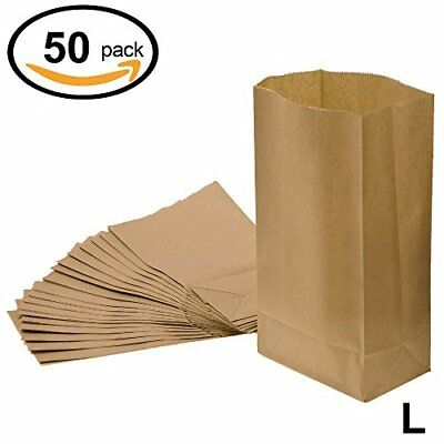 WINGONEER Grocery Bag Kraft Paper Bag Party Lunch Flat Bottom Paper Bag,6 11x5.