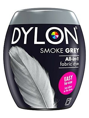 DYLON Machine Dye Pod, Smoke Grey, easy-to-use fabric colour for laundry, 350g