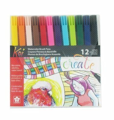 Sakura XBR-12SA 12-Piece Koi Assorted Coloring Brush Pen Set by Sakura