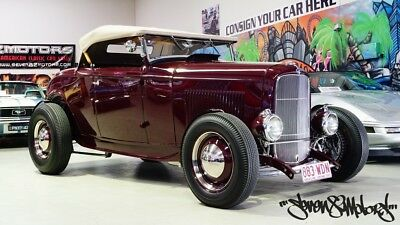 1932 Ford Roadster traditional hot rod with blown chev small block V8 32 Model A