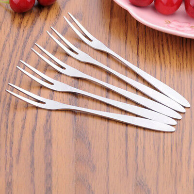 Two Tooth Fork Tool Dessert Hotel Steel Stainless Steel Fruit Pastry