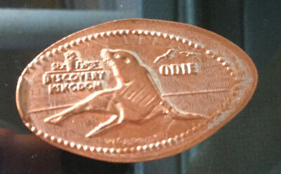 Six Flags Odie seal pressed elongated penny A530