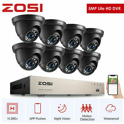 ZOSI 8CH HD Camera 1080N TVI DVR Video Home Outdoor CCTV Security System + Gift