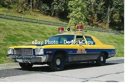 NEW YORK STATE POLICE DEPT 1970's PLYMOUTH 'TIJUANA TAXI' 4X6 COLOR PHOTO