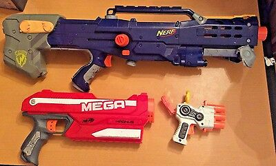 NERF Longshot CS 6 N-Strike Elite Sniper Rifle Parts & Mega Magnus w/ Pistol