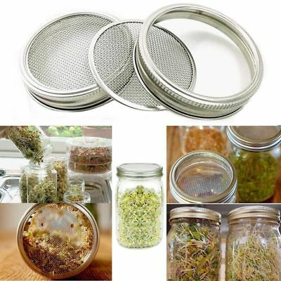 Stainless Steel Sprouting Lids for Wide Mouth Mason Jars - Strainer Lid L4C1