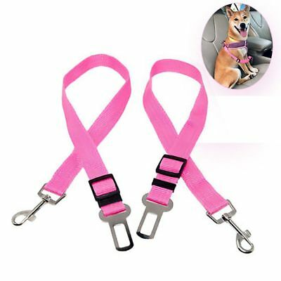 2 Pack Safety Leads Pet Vehicle Car Safety Seat Belt for Dogs/Cats Mat D8R2