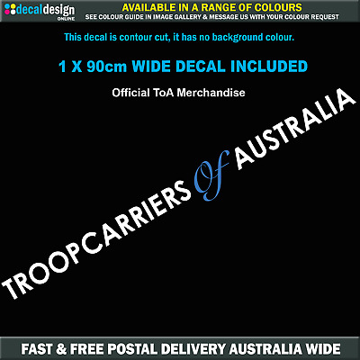 Troopcarriers of Australia Windscreen Decal Official ToA Merch 90cm Wide #TOA018