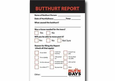 Butthurt Report Postcard