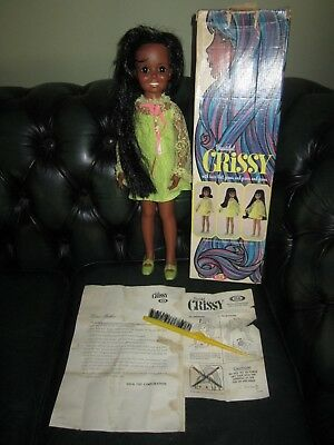 Vintage Ideal Crissy Doll AA Black African American with box/accessories