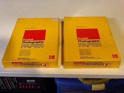 "100 sheets 5x7"" Kodak Polycontrast J NOS single weight paper & 20 Sheets F"