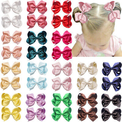 """32 Pieces Baby Girls Hair Bows Alligator Clips Grosgrain Ribbon 4.5"""" Bows Clips"""