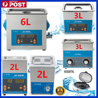 Digital Ultrasonic Cleaner Ultra Sonic Timer Bath Cleaning Tank Stainless Steel~