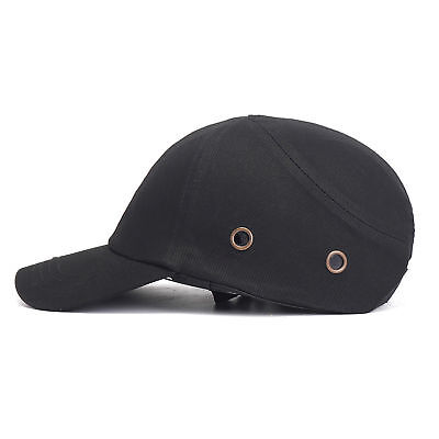 Black Baseball Bump Caps Lightweight Safety Hard Hat Head Protection Protect