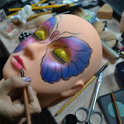 Silicone Mannequin Head Makeup Practice Eyelash Lashes Face Model Training Tool