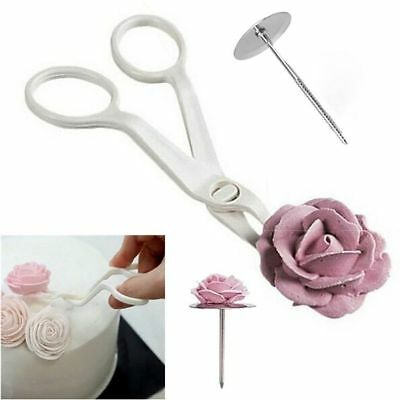 3pcs Kit Piping Flower Scissors Nail Icing Bake Cake Decor Cupcake Pastry Tools